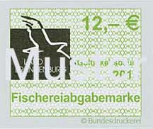 Fischereiabgabemarke 12 Euro