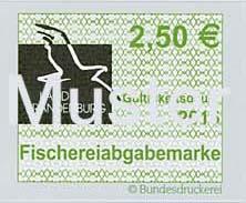 Fischereiabgabemarke 2,50 Euro