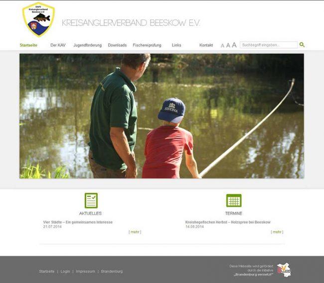 Neue Homepage des Kreisanglerverbandes Beeskow