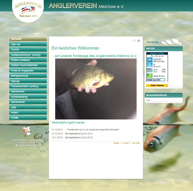 Azubis unterstützen den Anglerverein Meichow mit neuer Webseite